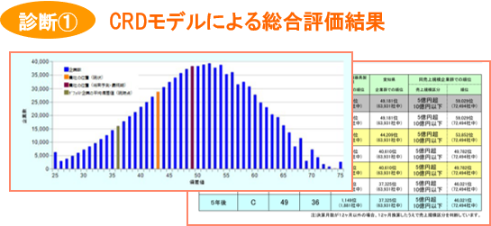 CRDモデルによる総合評価結果